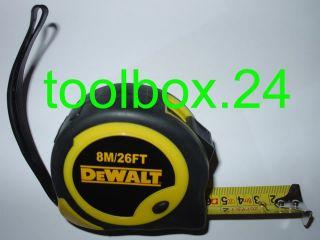 DeWalt 8m / 26ft Tape Measure *25mm WIDE BLADE*