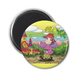 Cartoon character   Sowing Fridge Magnets