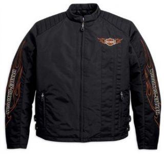 Harley Davidson Flames Nylon Jacket 98582 11VM Herren Outerwear