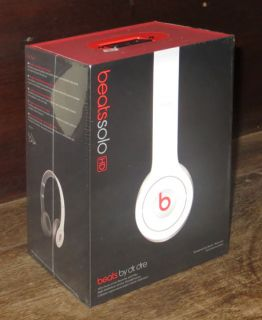 White Beats Dr Dre Solo HD ControlTalk On Ear Head phone Stereo