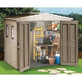 Tepro Kunststoff Gartenhaus APEX 8x6 mit 2 türigem Eingang & 2