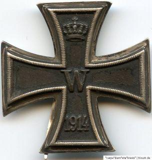 Eisernes Kreuz 1. Klasse Herst. KO Iron cross Orden medal Abzeichen