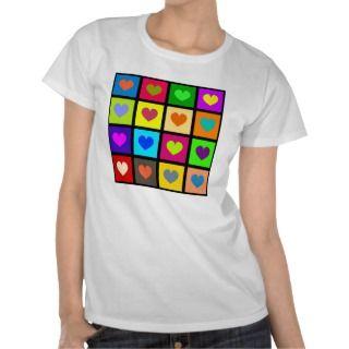 Heart Tile Wallpaper Tshirts