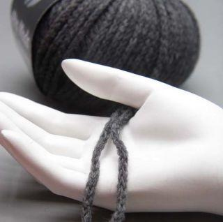 Lana Grossa Alta Moda Cashmere 009 antrazit 50g Wolle