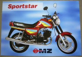 MZ Sportstar 251 301 Kombassan Kanuni Motorrad Prospekt