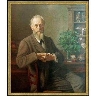 Bild mit Rahmen Otto Scholderer, Porträt Prof. Dr. Dr. August