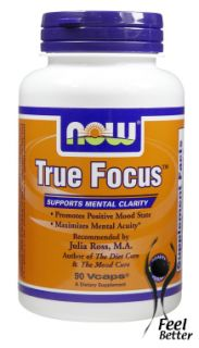 Now Foods True Focus   Ultimate brain boosting formula for enhancing