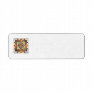 Quilt Block Return Address Label #2