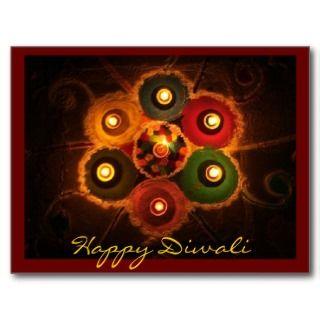 Diwali Rangoli  1 Postcard