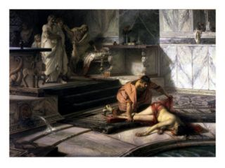 Nero, 37 68 AD Roman Emperor, with his Mother Agrippina, 15 59 AD, Murdered on Neros Orders Giclee Print by Antonio Rizzi