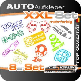 E256 Shocker DUB Aufkleber Sticker Autoaufkleber Auto Style SET TUNING