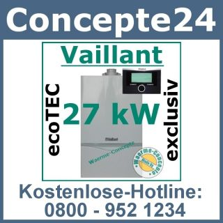 Vaillant ecoTEC VC 276/4 7 27 kW 470 Gas Brennwert Therme Gasheizung