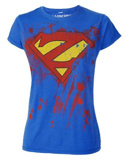 Darkside Super Hero Zombie Womens Fitted T Shirt Top Punk Rock Gothic