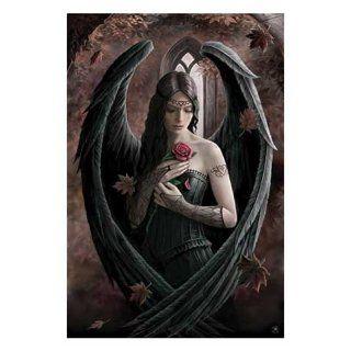 Stokes, Anne   Angel Rose   Fantasy Poster Adler Flügel Rose Gothic