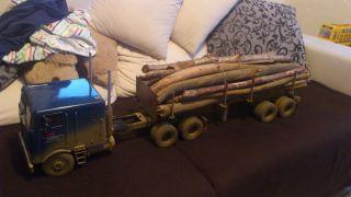 14 Tamiya US Truck Freightliner Holztransport Woodtrailer SZM