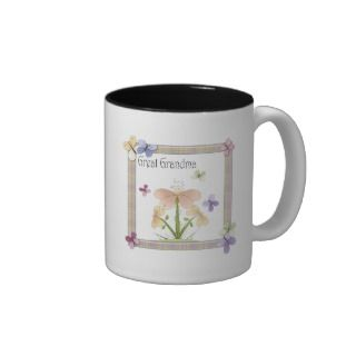 Butterfly Flower Great Grandma Mothers Day Gifts Mug