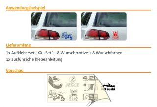 E274 Shocker DUB Aufkleber Sticker Autoaufkleber Auto Style Fun Tuning
