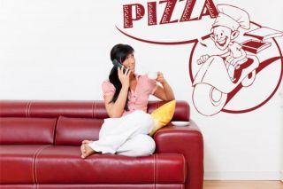 Pizza Bote I Neu Wandtattoo Wandsticker 42 59