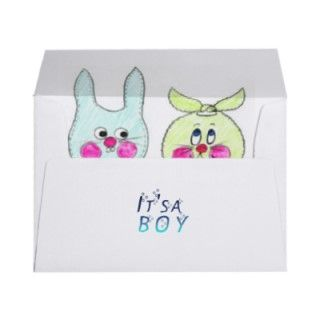 BABY BOY BIRTH ANNOUNCEMENT GREETING CARDS ENVELOPES