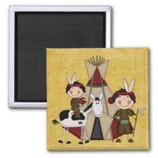 Little Indians Teepee Horse Fridge Magnet