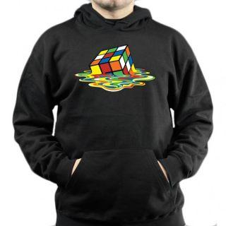 Big Bang Theory Melting Rubik   Hoodie / Pullover Zauberwürfel