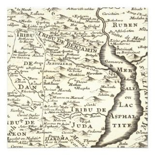 Antique Map of Israel Bar Miztvah Invitations