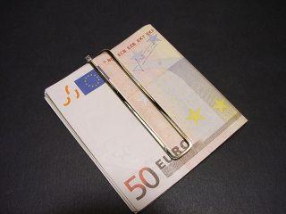 Orig. Krauss Geldklammer Gold 750 mit Diamant