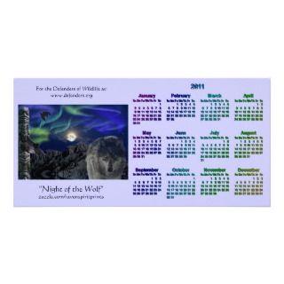 Lobo gris y fauna del tótem 2011 calendarios del b tarjeta