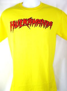 Hulkamania Hulk Hogan Bright Yellow T shirt New