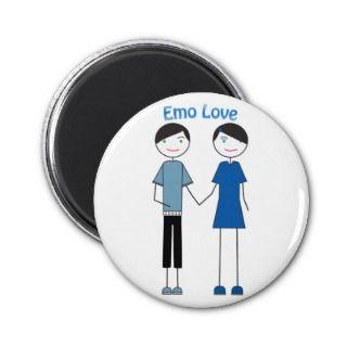 Emo Love Fridge Magnets