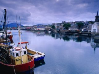 Fishing Boats in Village Harbour, Ullapool, Scotland Photographic Print by Gareth McCormack