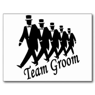 Team Groom (Men) Post Card