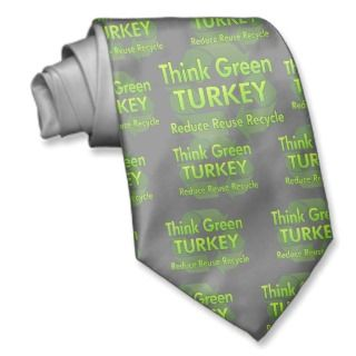 Think Green Turkey Neck Ties