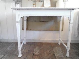 Shabby ANTIK Tisch Konsole weiß Belle Blanc Vintage