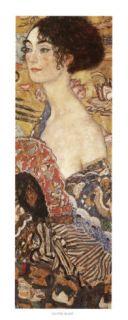 Lady with Fan Art by Gustav Klimt