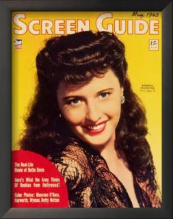 Barbara Stanwyck   Screen Guide Magazine Cover 1940s Posters