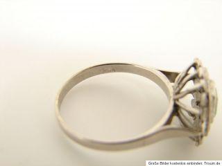 Weißgold Diamant Smaragd Ring 585 Gold 14 kt Goldschmuck Schmuck