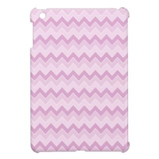 Pink Ombre Chevrons Zigzag Pattern iPad Mini Cases