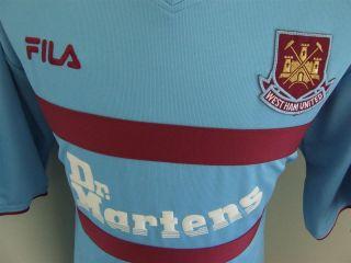 Trikot West Ham United 2001/02 (XXL) Fila Maglia Maillot Camiseta Dr