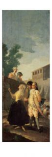 The Soldier and the Young Lady, 1778 79 Giclee Print by Francisco de Goya
