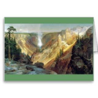 Thomas Moran   Grand Canyon of the Yellowstone Greeting Card
