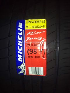 2x Michelin Pilot Sport PS2 N2 Extra Load 295 30 ZR18