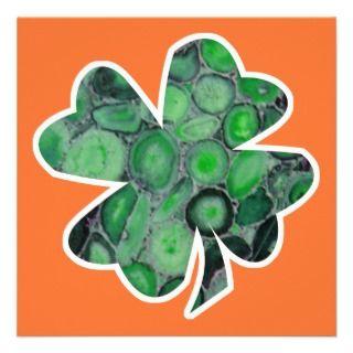 IRISH FLAG SHAMROCK PERSONALIZED INVITE