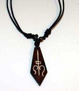 Amulett, Halsband,Tibetisches Zeichen, Yak Bone,Nepal