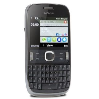 Nokia Asha 302 grau Handy ohne Vertrag QWERTZ Tastatur Touchscreen