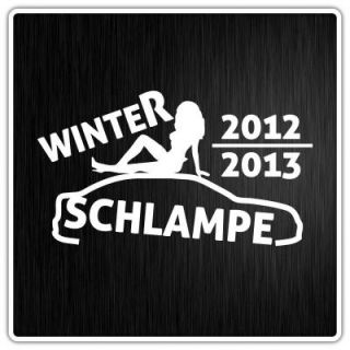 Winterschlampe Aufkleber Shocker Winter Auto JDM Sticker Bomb XL