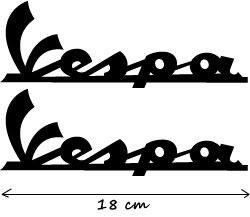 2X Motorrad Tuning AUFKLEBER ~ Vespa Decal Sticker