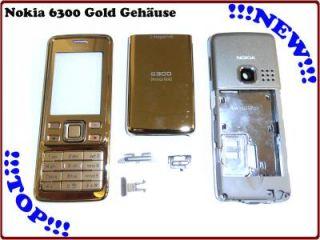 Nokia 6300 Sirocco Gold Komplett Cover Gehäuse Oberschale inc
