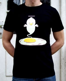 dead chicken spiegelei dj party shirt indie rock gr L