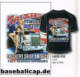 Shirt #293 10 TRIXI, Hot Rod Dragster, Pin Up, Trucker, Oldtimer,USA